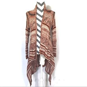 Mossimo Supply Boho Waterfall Cardigan Brown